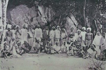 Newly arrived Indian coolies in Trinidad.