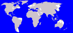 Sperm Whale range (in blue)